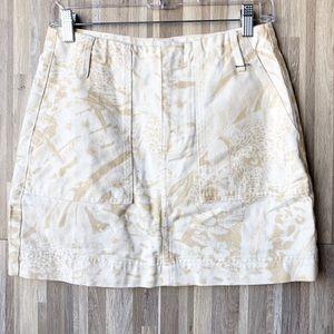 BDG | Light Wash Yellow Floral A-Line Mini Skirt M